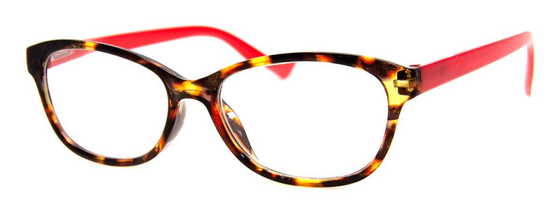 Tortoise/Red - Rx-able | Optical Quality | Cute Reading Glasses