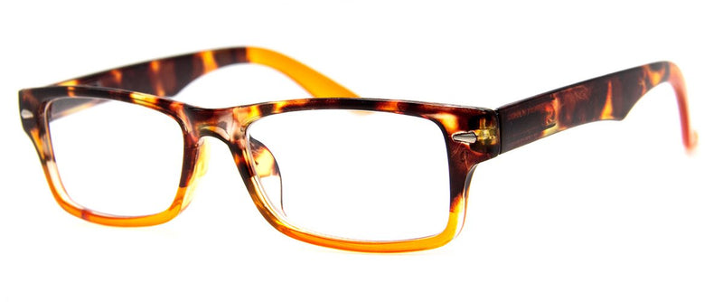 Tortoise/Orange - Cute, Rectangular Womens Reading Glasses