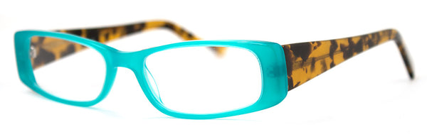 Turquoise - Optical Quality, Cute Rectangular Women's Reading Glasses