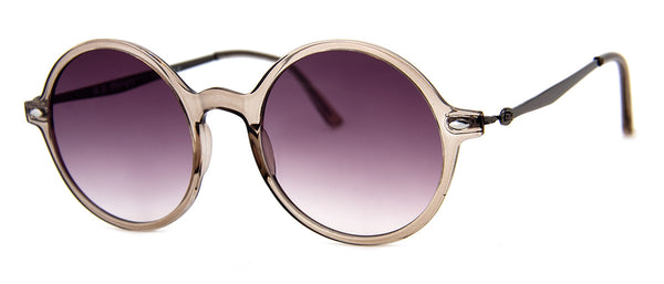 Grey - Hip Round Girls Sunglasses