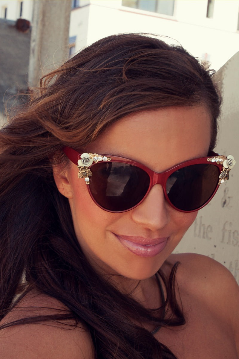 Womens Designer Cat Eye Sunglasses
