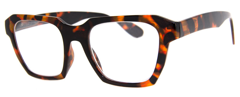 Tortoise - Mens, Womens, Oversized, Stylish, Rectangular, Vintage Reading Glasses
