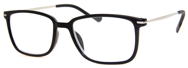 Black - Classic, Rectangular Reading Glasses for Men & Women