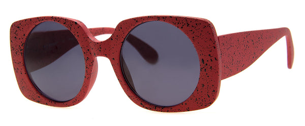 Red - Funky, Speckled Sunglasses for Girls