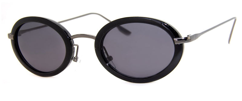Black - Small, Round, Mens & Womens Sunglasses