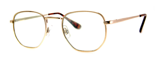 Gold - Fake Reading Glasses | Clear Lens Sunglasses
