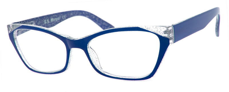 Dark Blue - Funky, Designer Cat Eye Womens Readers
