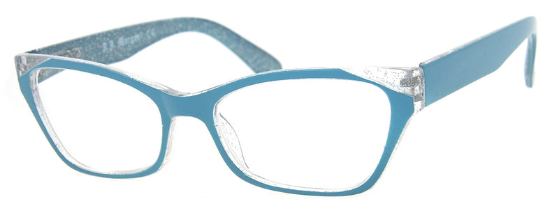 Light Blue - Funky, Designer Cat Eye Womens Readers