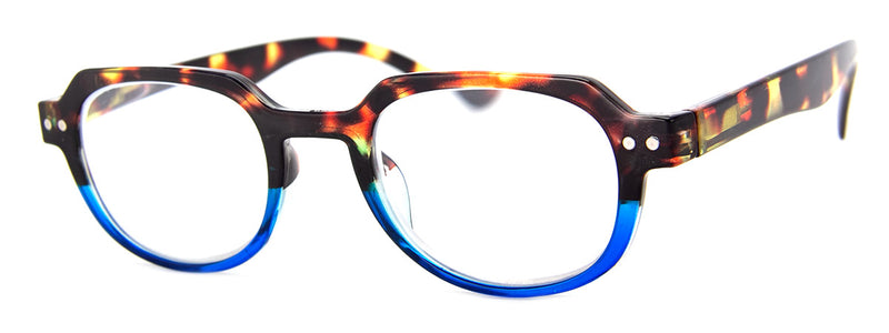 Tortoise/Blue - Hip, Designer, Reading Glasses for Men & Women
