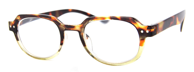 Tortoise/Green - Hip, Designer, Reading Glasses for Men & Women