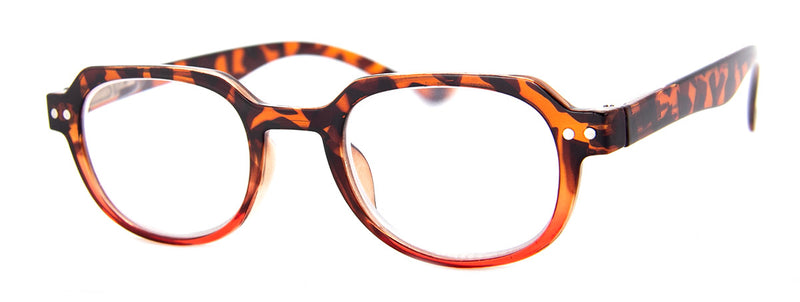 Tortoise/Red - Hip, Designer, Reading Glasses for Men & Women
