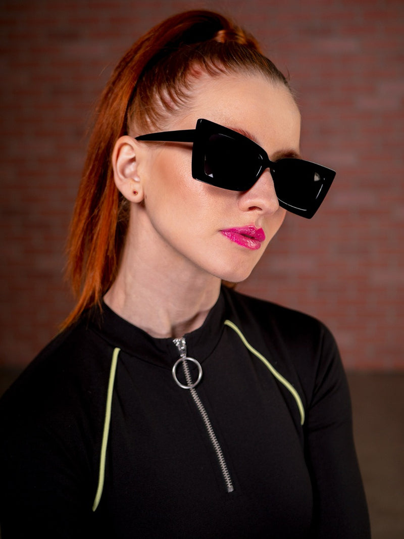 Funky, Angular Cat Eye Sunglasses