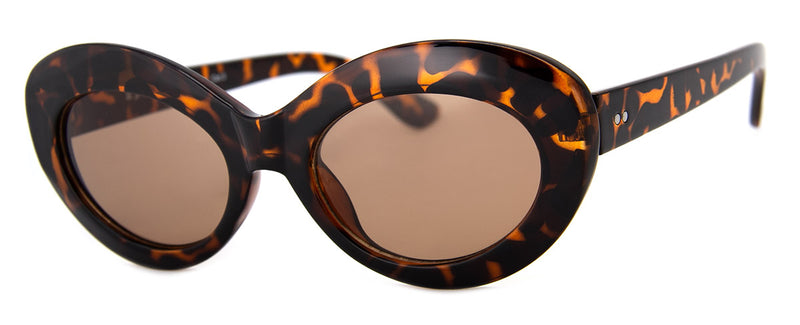 Tortoise - Retro Cat Eye Sunglasses