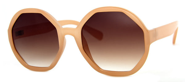 Beige - Funky, Hip, Oversized Girls Sunglasses