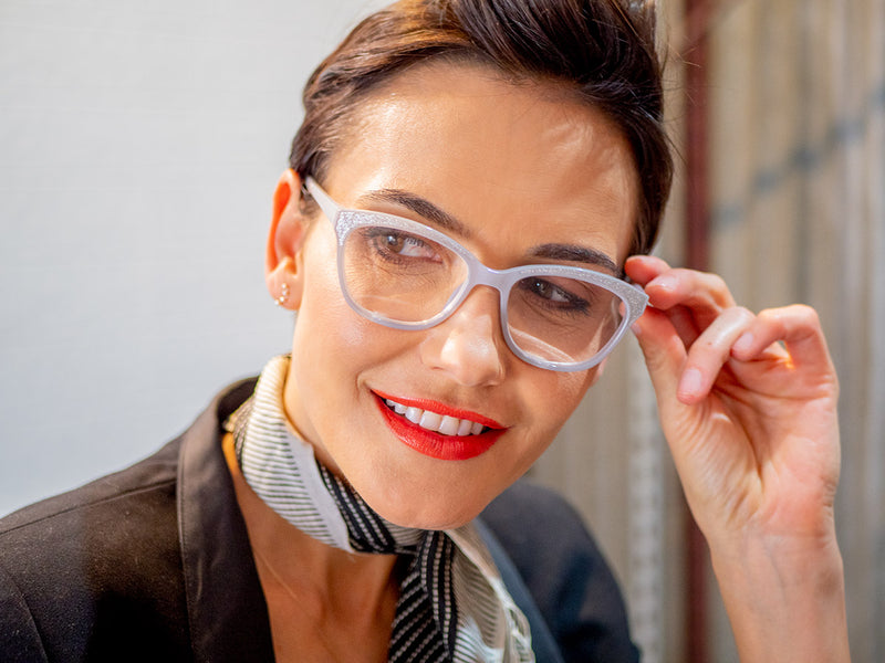 Sparkly, Glitter, Rectangular Reading Glasses for Women