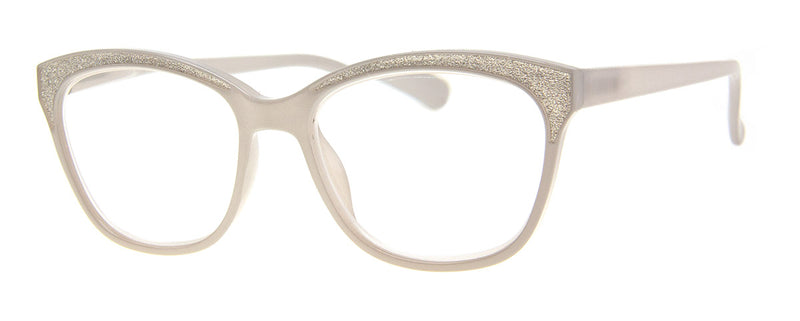 Grey  - Sparkly, Glitter, Rectangular Reading Glasses for Women