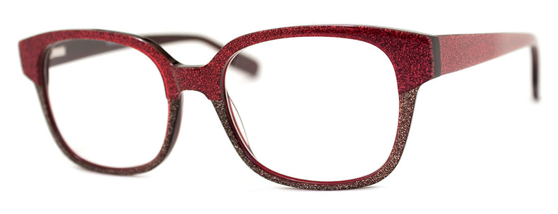 Magenta - Blue - Funky Thick Rectangular Glitter Reading Glasses