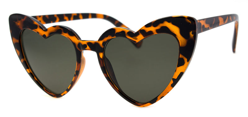 Tortoise Heart Shaped Sunglasses