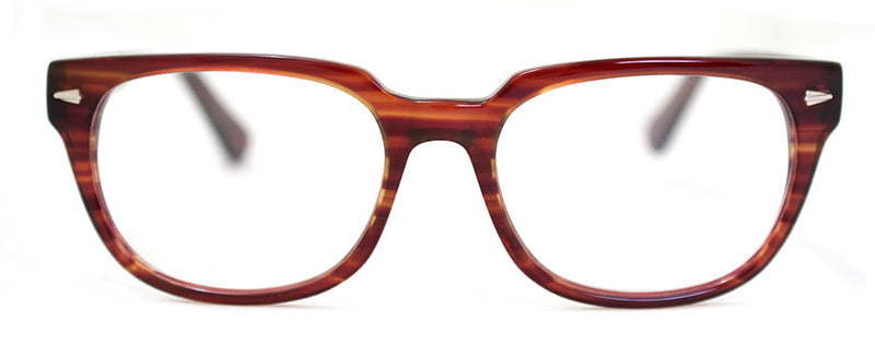 Brown Stripe Classic Rectangular Reading Glasses for Men and Women