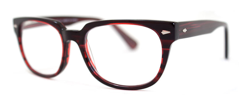 Red Stripe Classic Rectangular Reading Glasses for Men and Women