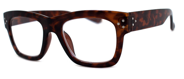 Tortoise - Hip, Large, Rectangular Reading Glasses for Men & Women