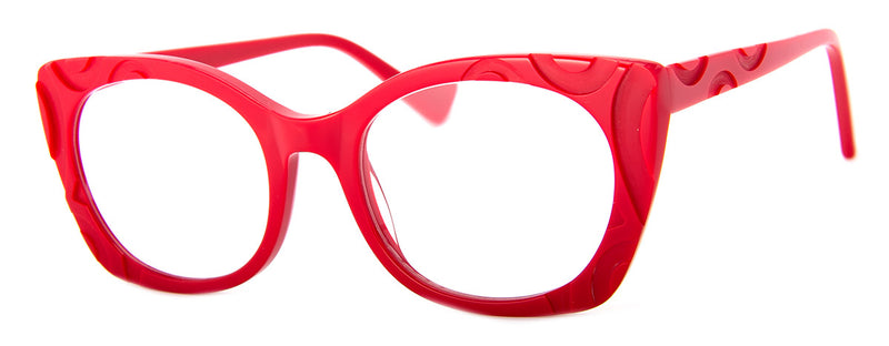 Red - Hip Oversized Womens Reading Glasses