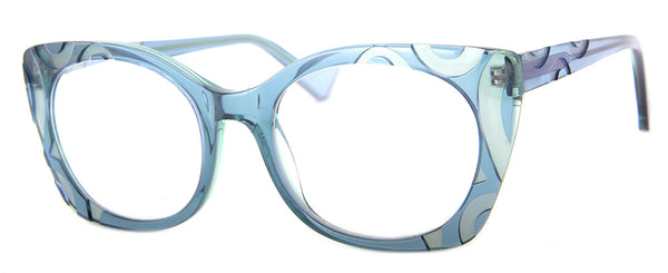 Teal - Hip Oversized Womens Reading Glasses