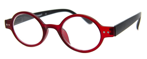 Red - Hip, Round, Reading Glasses for Men & Women