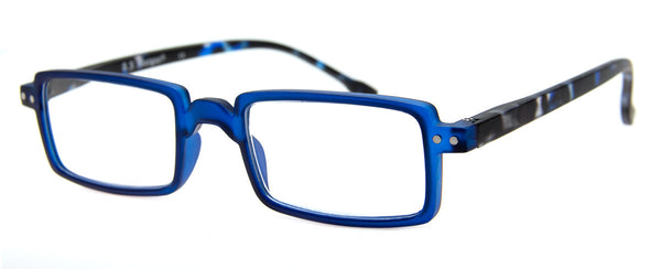 Blue - Hip, Rectangular Reading Glasses for Men & Women