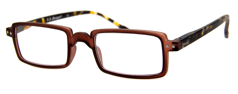 Brown - Mens, Womens, Hip, Stylish, Rectangular, Vintage Reading Glas