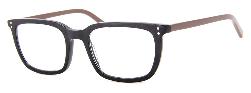 Black - Womens & Mens Rectangular Reading Glasses
