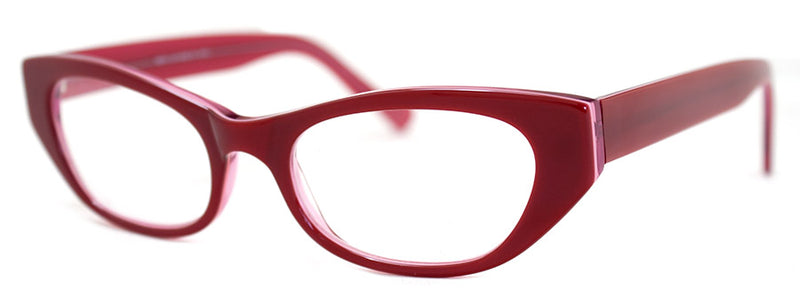 Red - Cute designer cat eye reading glasses for women