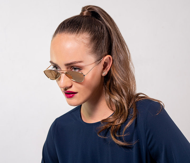 Vintage-Inspired, Funky, Oval, Metal Sunglasses