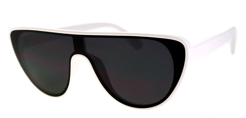 White Oversized Aviators for Men & Women