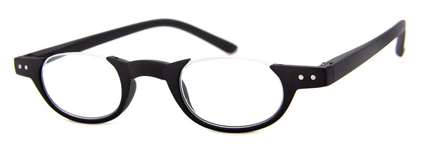 Black - Small Circular Designer Reading Glasses