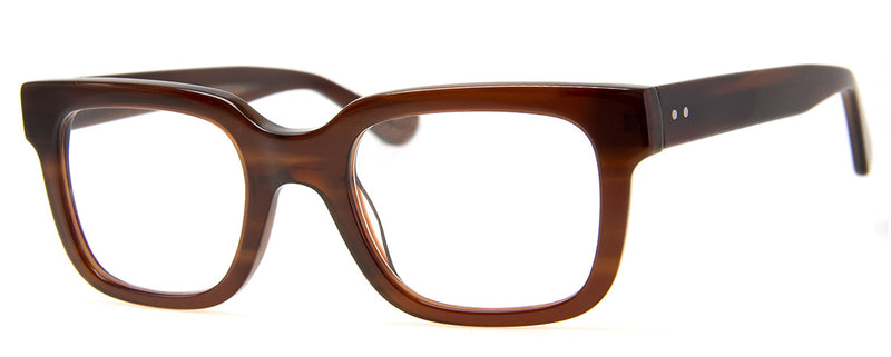 Brown - Thick Framed Rectangular Reading Glasses