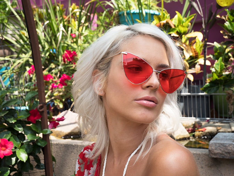 Red Lens Cat Eye Sunglasses