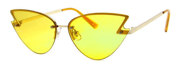 Yellow - Funky, Retro, Cat Eye Sunglasses