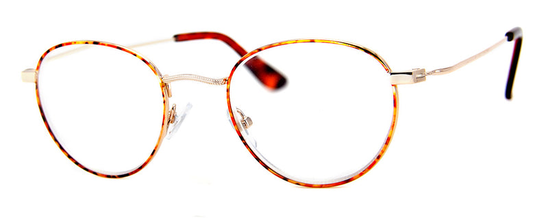 Brown Multi - Round Metal Frame Reading Glasses