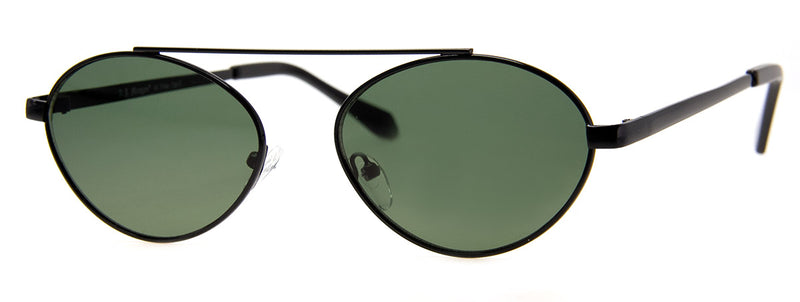 Black - Round Metal Frame Sunglasses for Women & Men