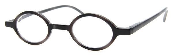 Black - Sleek Round Reading Glasses for Men & Women