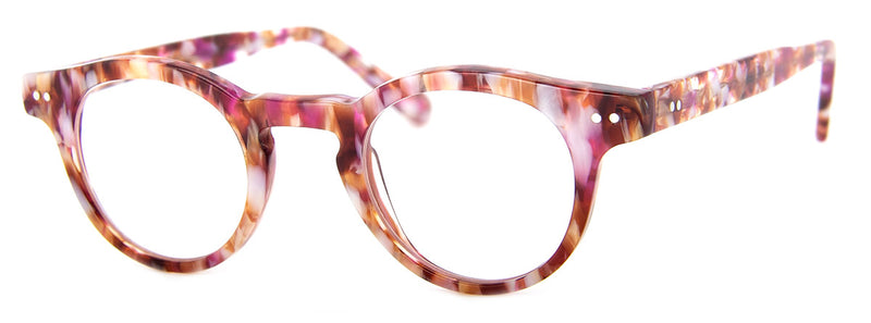 Pink Multi - High Quality Round Mens & Womens Reading Glasses