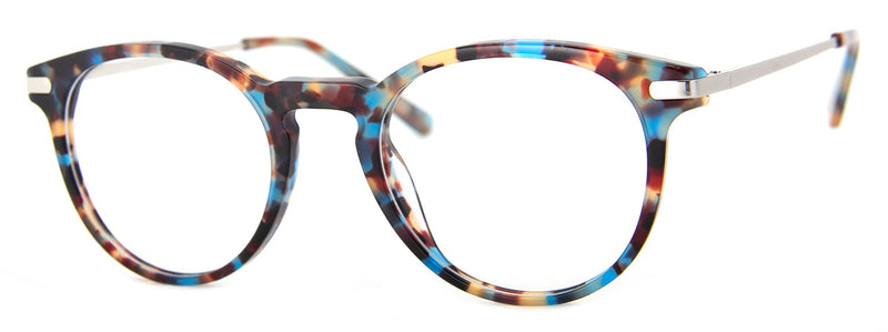 Blue Multi - Hip Round Reading Glasses