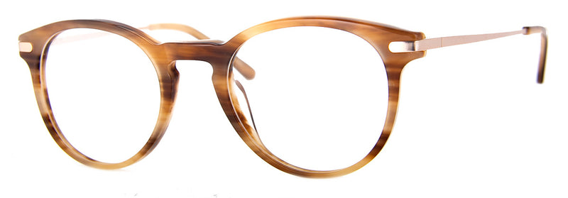 Brown Stripe - Hip Round Reading Glasses