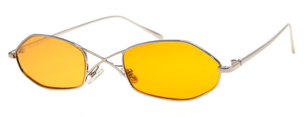 Silver - Updated, Retro, Metal Frame Sunglasses for Men and Women