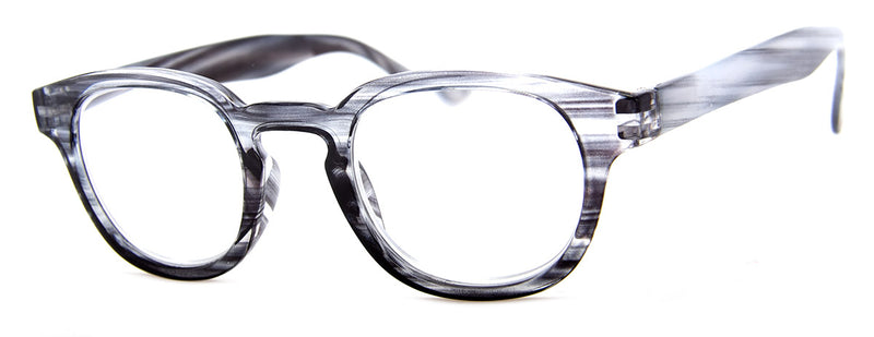 Grey - Striped-Colored Reading Glasses for Women