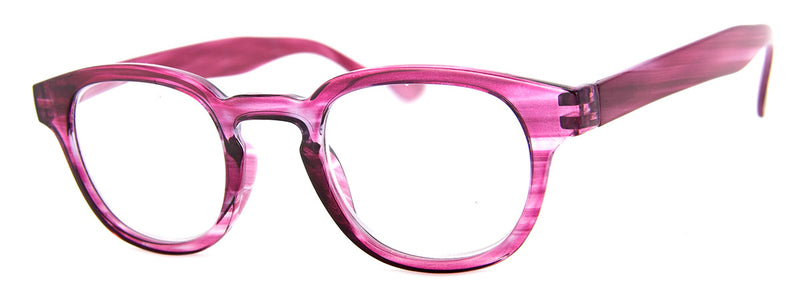 Purple - Striped-Colored Reading Glasses for Women