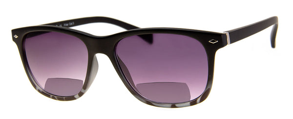 Black - Sunglass Readers in a Vintage, Rectangular Frame