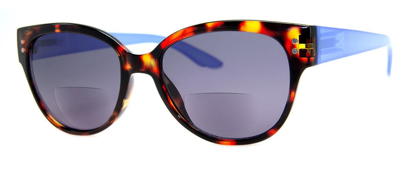 Tortoise/Blue - Bifocal Sunglass Readers