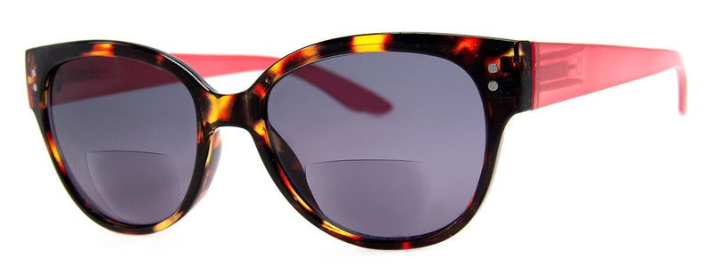 Tortoise/Red - Bifocal Sunglass Readers
